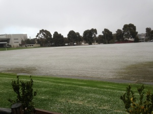 Is it snow at Mt Scopus College or Hail?